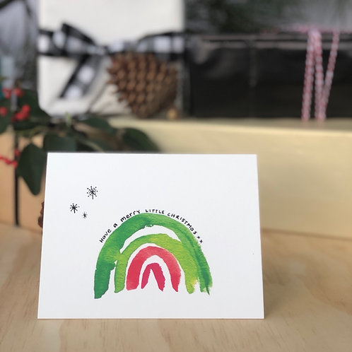 Christmas Rainbow CARD