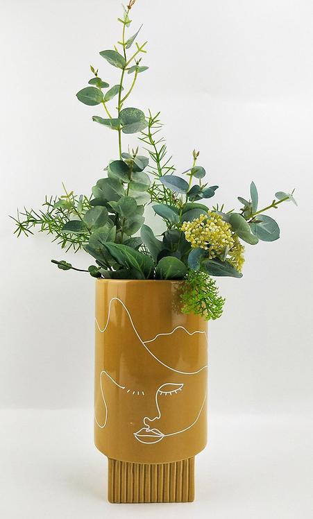 Nova Face Vase 22cm (Mustard)