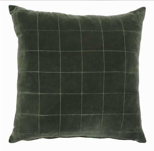 Selby Velvet Cushion - Green