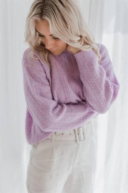 Little Lies - Primmy Knit - Lilac