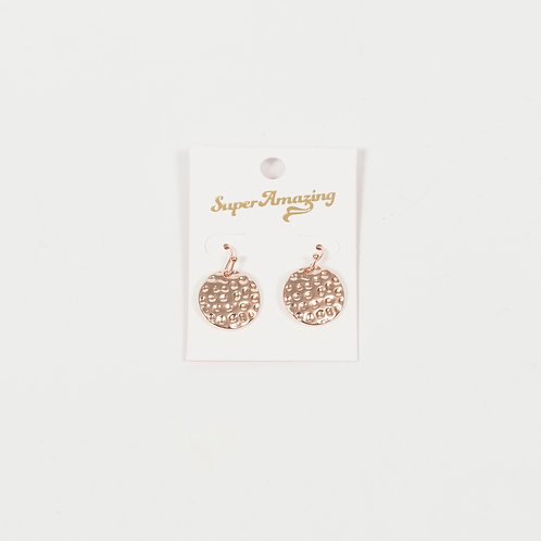 Mini Beaten Disk Earrings - Rose Gold, Silver And Gold - Super Amazing