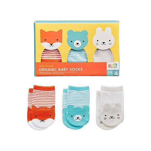 Organic Baby Socks 3-piece Set - Petit Collage