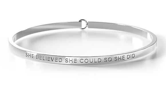 Clasp Bangle - She Believed She Could So She Did - Be. Bangles