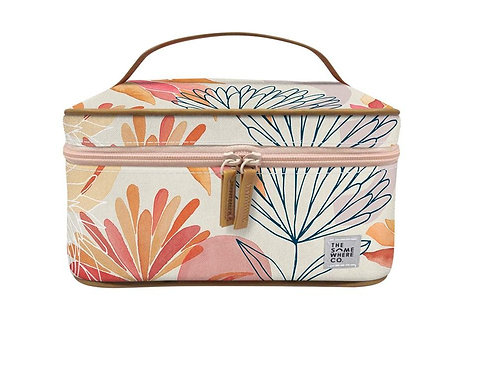 Brushed Protea Cosmetic Case  - THE SOMEWHERE CO.