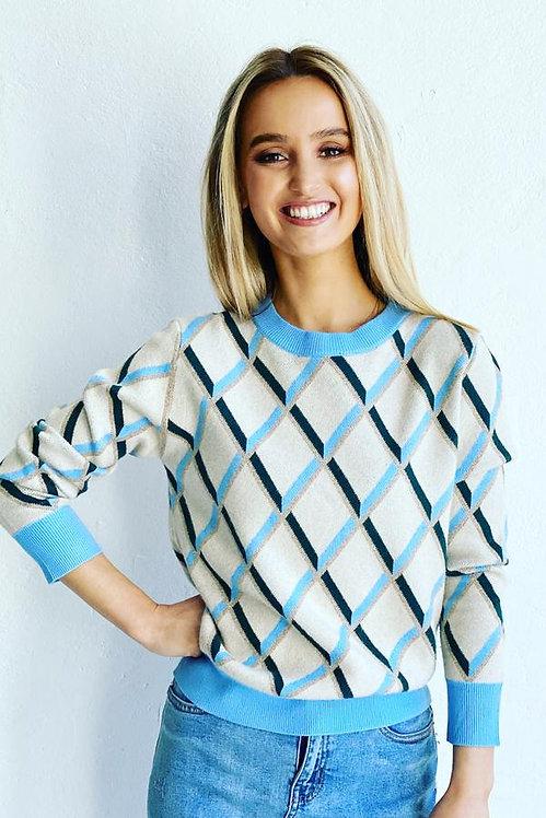 MOSK Melbourne - Argyle Knit - Blue and Green