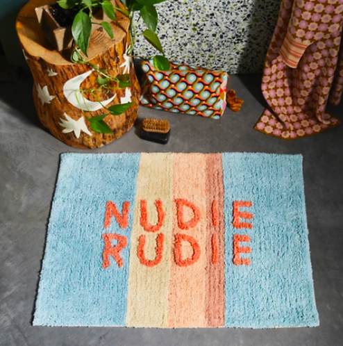 Tula Nudie Bathmat Powder Stripe - SAGE and CLARE