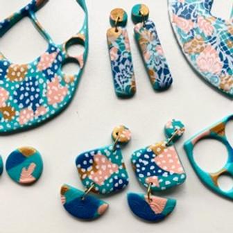 Polymer Clay Silk Screen + Texture Tile Earring Workshop