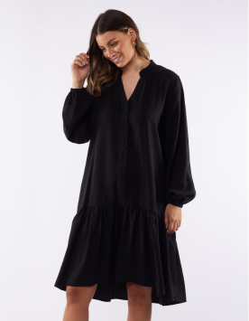 FOXWOOD - Yarra Long Sleeve Dress - Black