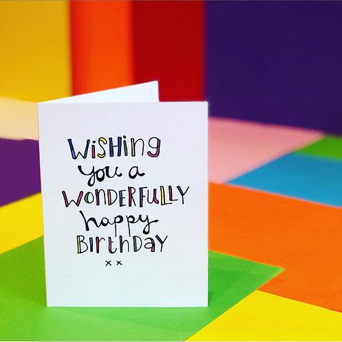 Wonderfully Happy Birthday! CARD