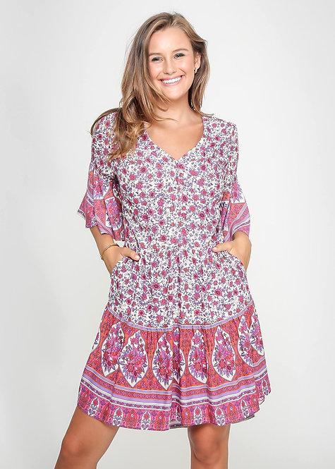 Frances Fuchsia Dress