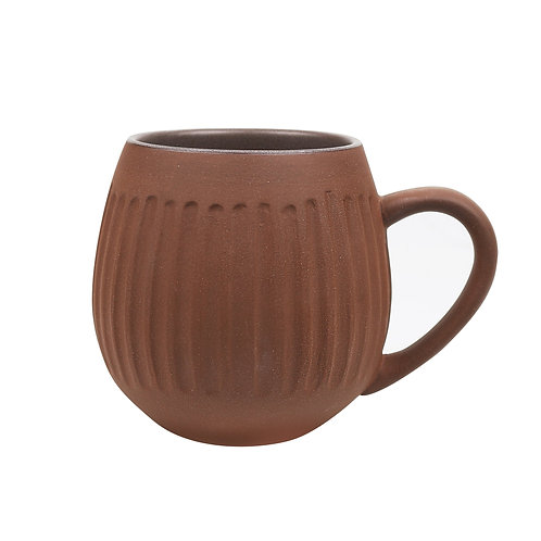 4pk Clay Tribe Hug Mug - Dark Clay/Rust - Robert Gordon