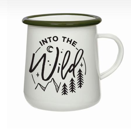 Into The Wild Enamel Mug, 550ml