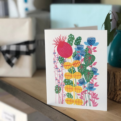 Imagine Giant Flowers CARD
