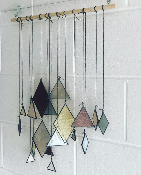 Geometric Handcrafted Glass ART Mobile