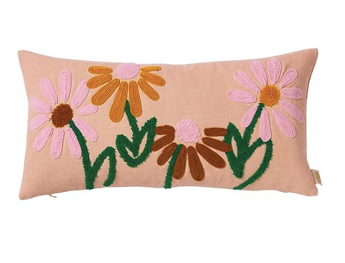 Vedetta Flower Cushion - SAGE AND CLARE