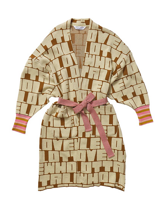 Bisous Jacquard Robe / Cardigan - SAGE AND CLARE