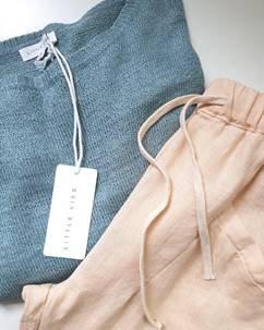 Little Lies - Luxe Pants - Pale Apricot