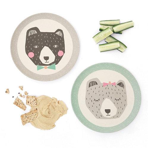 Mama & Papa Bear 4 Small Plates - LOVE MAE