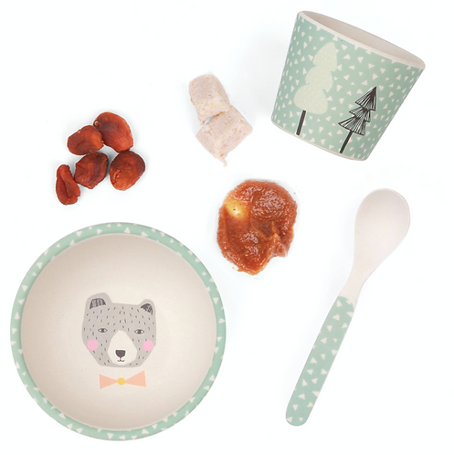 LOVE MAE - Bear Baby Feeding Set