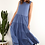 Thumbnail: Nebraska Frill Dress Blue - FOXWOOD