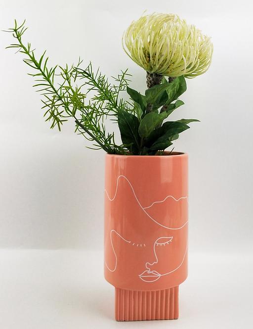 Nova Face Vase 22cm (Pink)