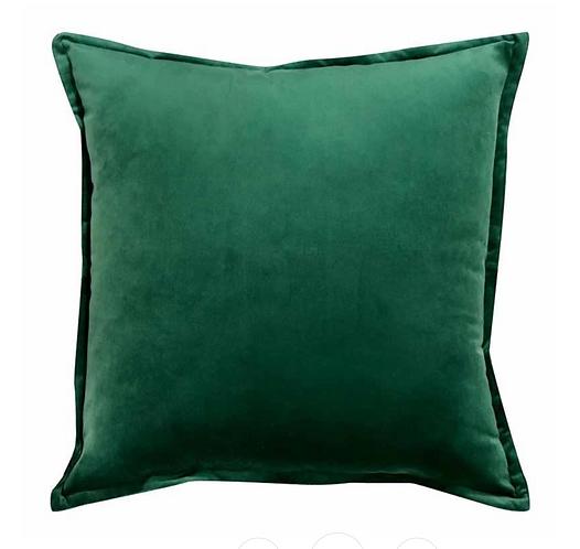 Mira Velvet Cushion - Fern
