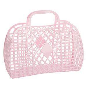 Retro Basket Large Pink - Sun Jellies