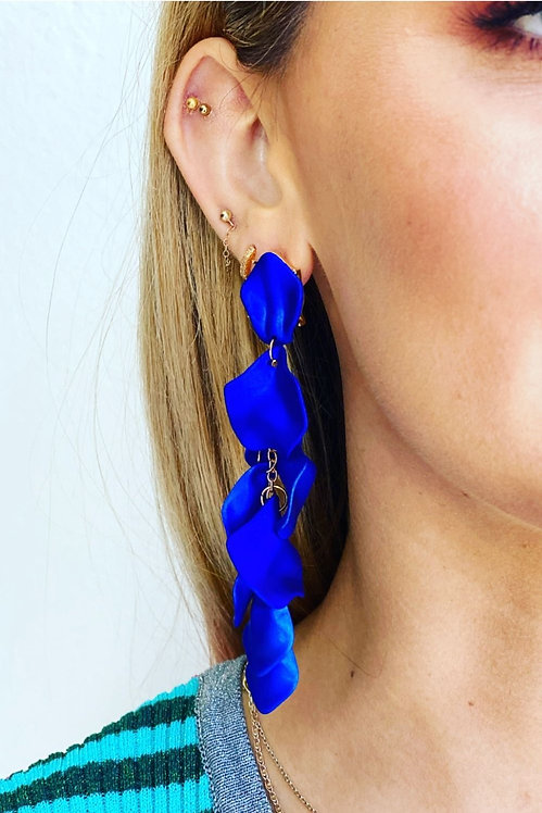 Azure Blue Flower Falls Earrings - Mosk Melbourne