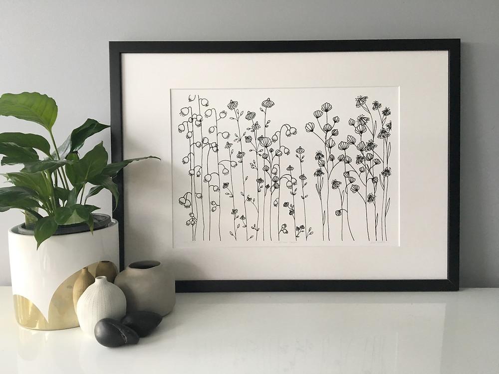 'Wildflowers - Right Here, Right Now' - Kim Miatke 2017 Limited Ed. Print
