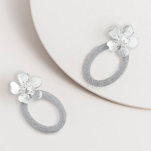 SUPER AMAZING - Flower Dangle Silver