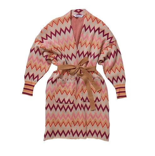 Rosa Jacquard Robe / Cardigan - SAGE AND CLARE