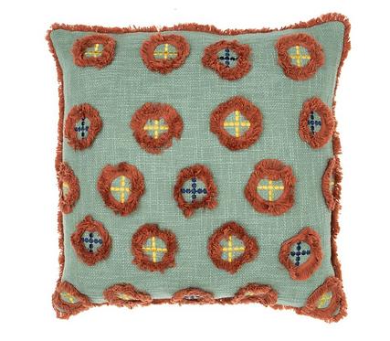Circus Green Textured Cushion