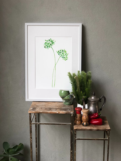 Green Duo Bloom PRINT