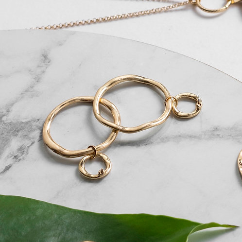 SUPER AMAZING - Gold Circle Dangle