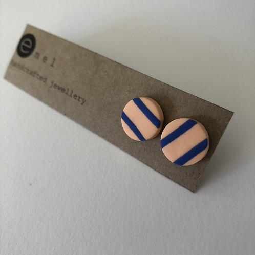 Peach / Nude Tone Stud Earrings - EMEL