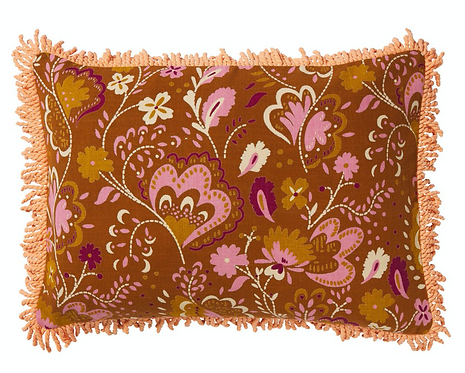 Alia Fringe Cushion - SAGE AND CLARE