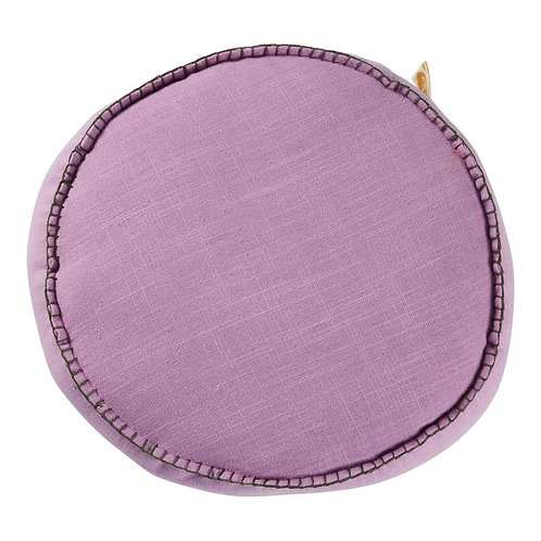 Rylie Round Cushion - VIOLET - SAGE AND CLARE