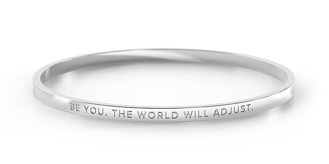 clasp bangle - BE YOU. THE WORLD WILL ADJUST.