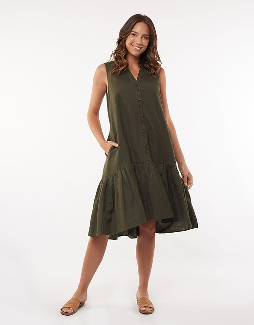 Yara Dress Olive - FOXWOOD