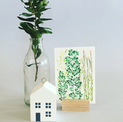 Tiny Print & Stand Set -Foliage & Flowers