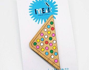 MEAK - Fairy Bread Brooch / Badge