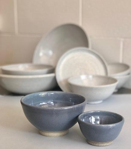 PETER WATSON - Glossy blue bowls