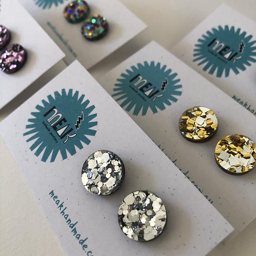 Sparkly Stud Earrings - MEAK