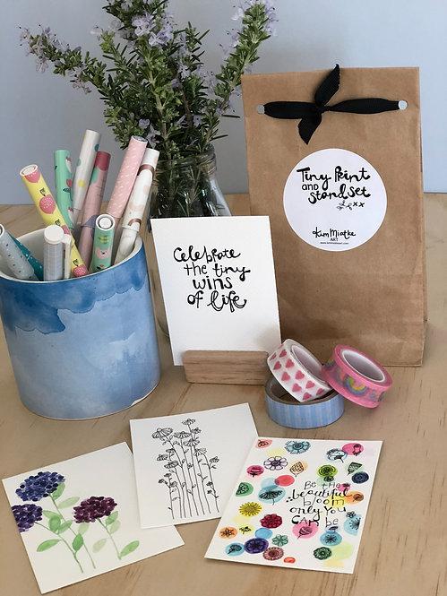 Tiny Prints & Stand Set - Celebration Blooms