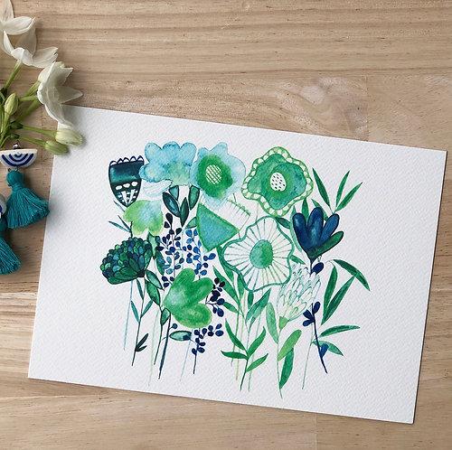 Dreamy Green & Blue Surprise PRINT