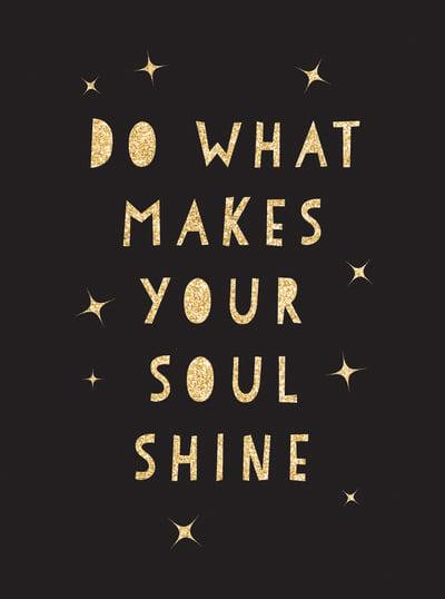 Do What Makes Your Soul Shine -  Hard Cover book
