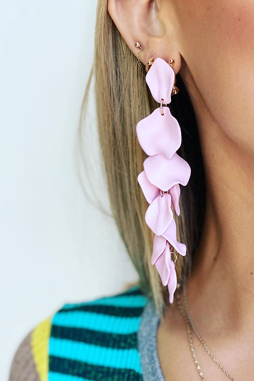 Pale pink - Flower Falls Earrings - Mosk Melbourne