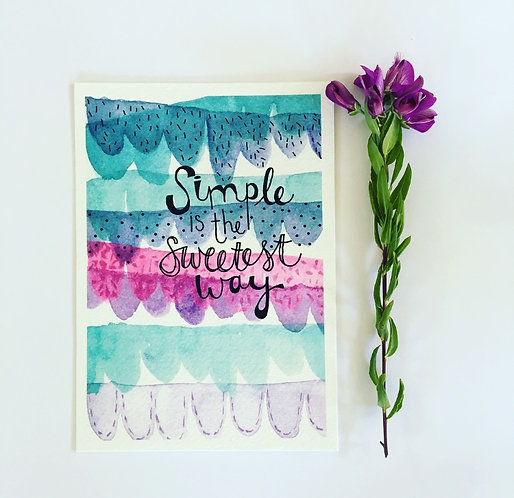 Simplicity is the sweetest way PRINT