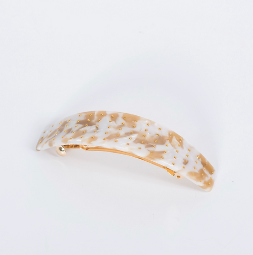 SUPER AMAZING Studded Gold & Light Multi Acetate Barrette Clip