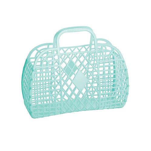 Retro Basket Small Mint - Sun Jellies